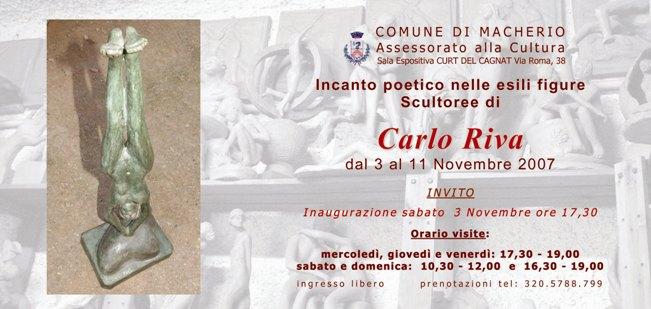 Invito Mostra Carlo Riva Macherio